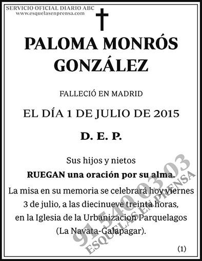 Paloma Monrós González